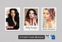 Model Comp Card Template Bundle Modeling Comp Card Model  Etsy Throughout Zed Card Template