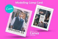Modeling Comp Card  Fashion Model Comp Card Template  Fashion Comp with Download Comp Card Template