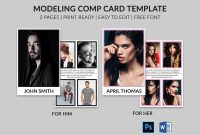 Modeling Comp Card  Model Agency Zed Card  Photoshop  Ms Word Regarding Zed Card Template