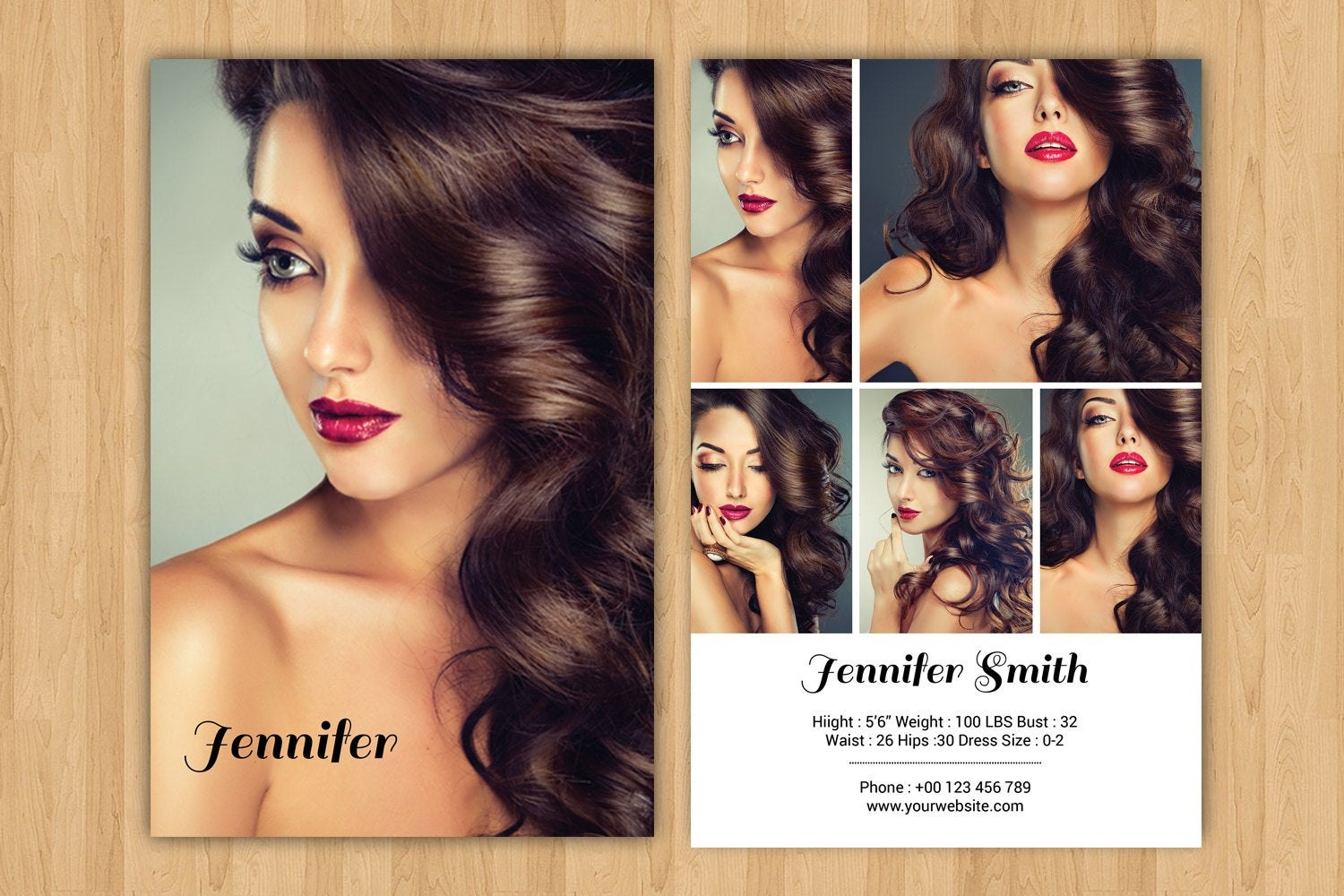 Modeling Comp Card Template Model Comp Card Photoshop  Etsy Within Comp Card Template Download