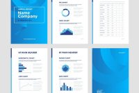 Modern Annual Report Template With Cover Design Vector Image throughout Illustrator Report Templates