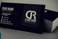 Modern Black Business Card  Psd — Photoshop Tutorial with Visiting Card Templates For Photoshop