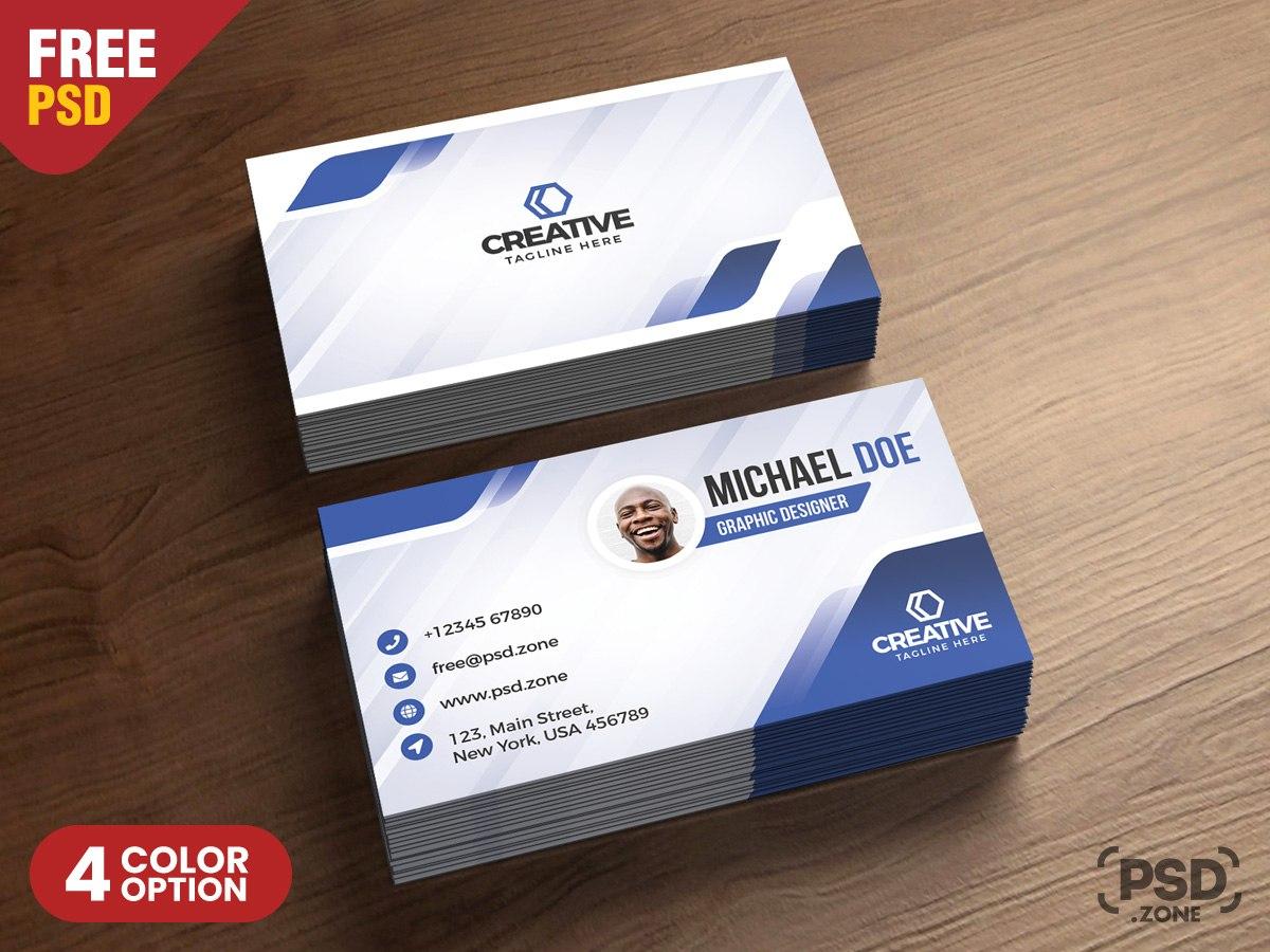 Modern Business Cards Design Psd  Psd Zone Inside Modern Business Card Design Templates