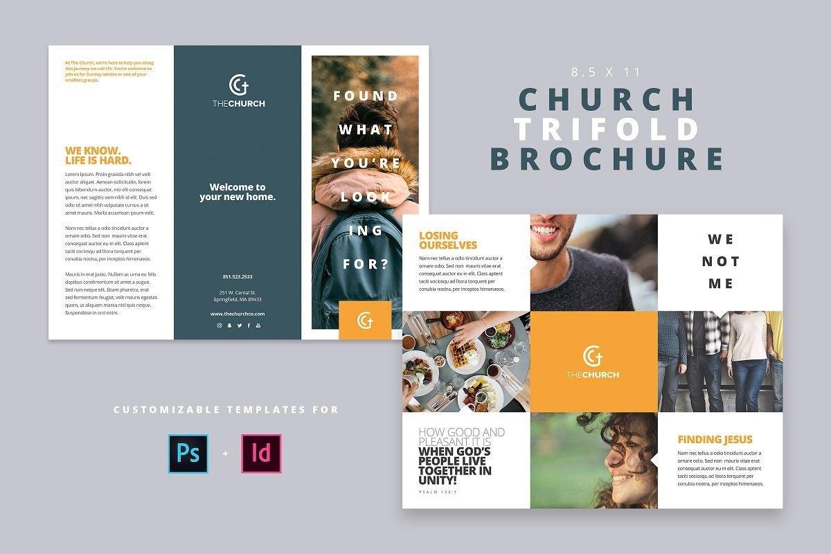 Modern Church Trifold Brochure ~ Brochure Templates ~ Creative Regarding Welcome Brochure Template