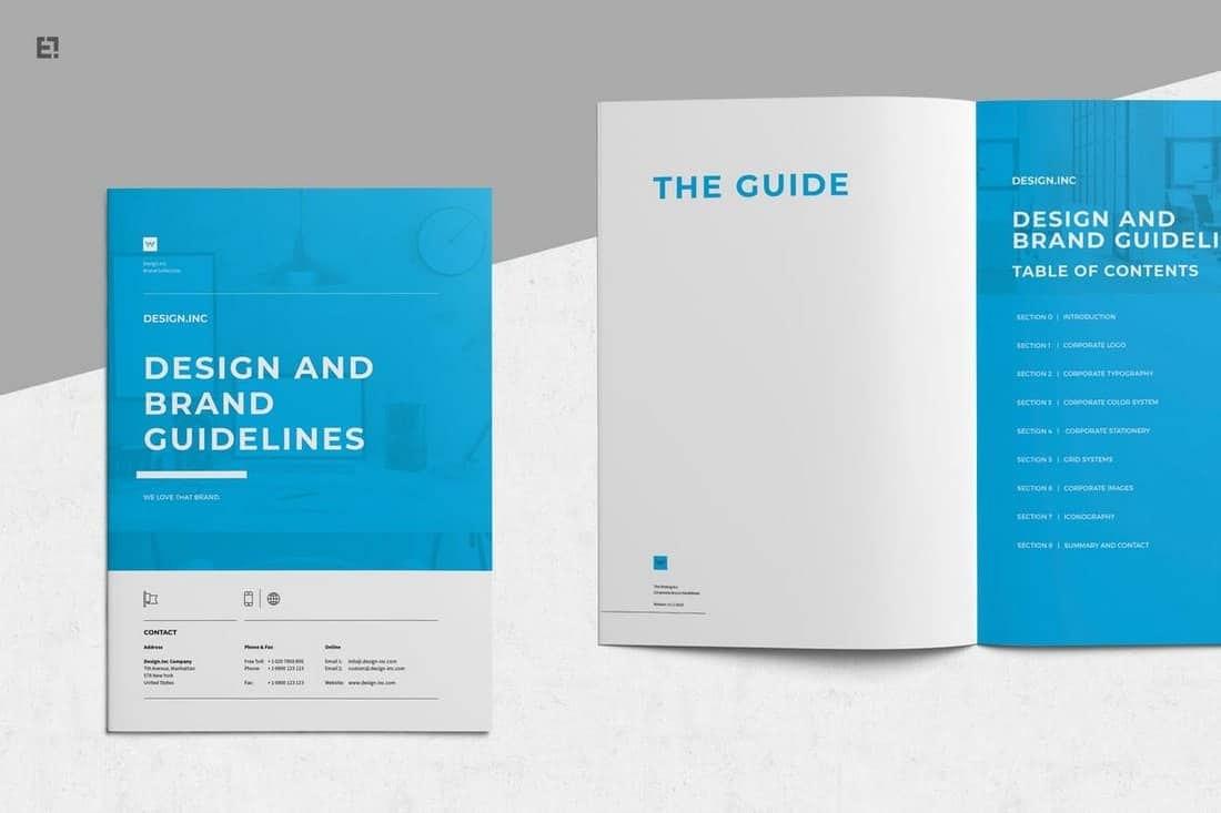 Modern Corporate Brochure Templates  Design Shack Regarding Membership Brochure Template
