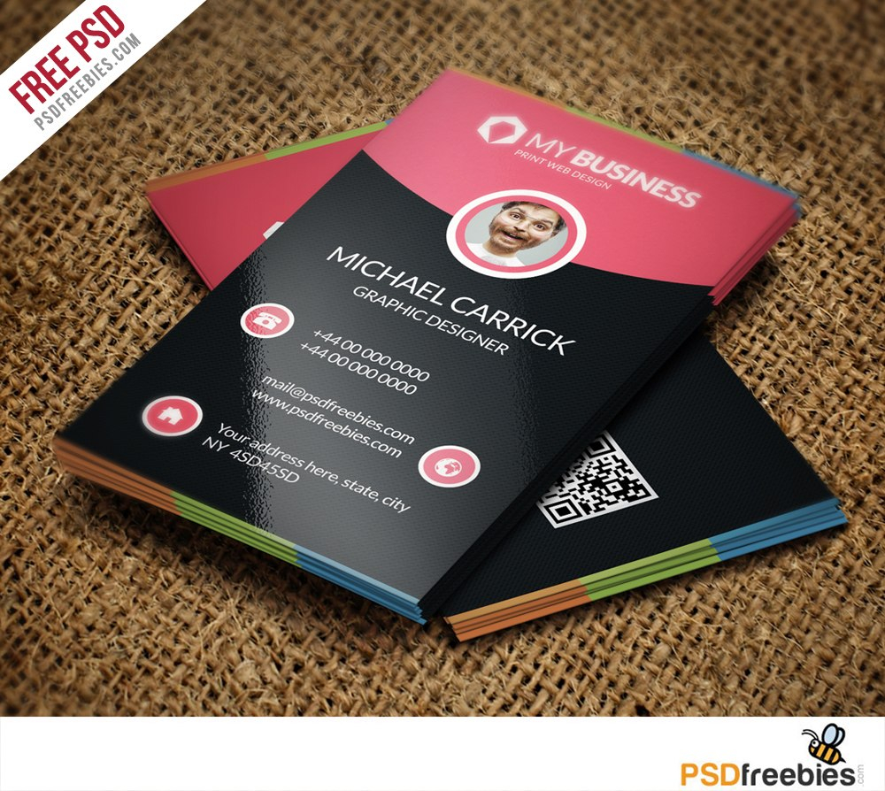 Modern Corporate Business Card Free Psd Vol   Psdfreebies Pertaining To Visiting Card Templates Psd Free Download