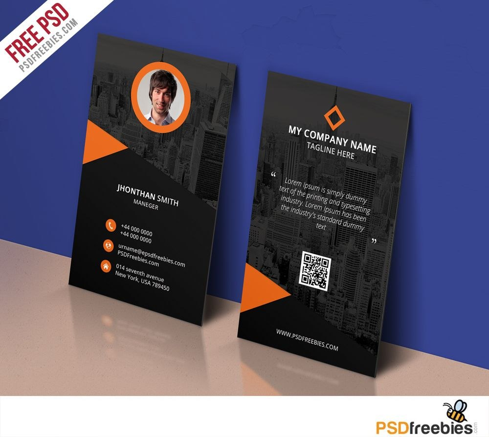 Modern Corporate Business Card Template Free Psd  Psd Print Regarding Free Psd Visiting Card Templates Download