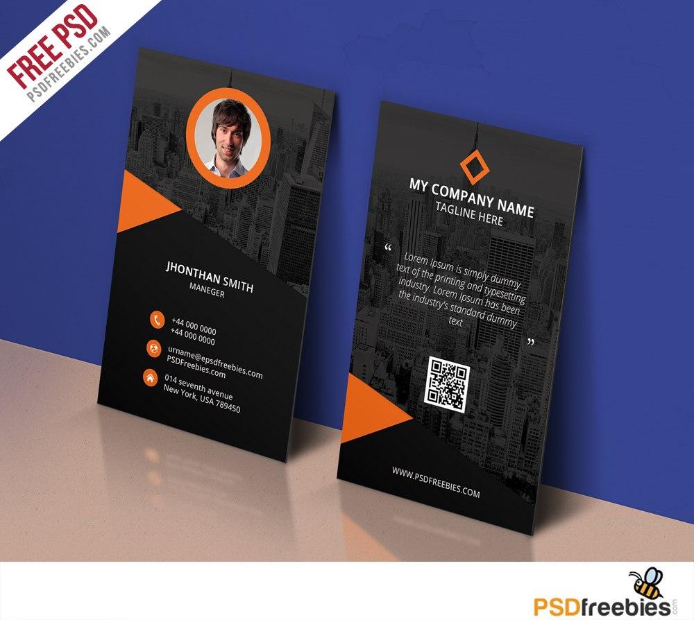 Modern Corporate Business Card Template Free Psd  Psdfreebies Regarding Name Card Template Photoshop