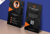 Modern Corporate Business Card Template Free Psd  Psdfreebies with Name Card Design Template Psd
