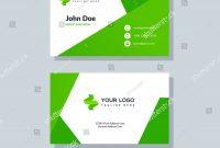 Modern Green Business Card Template Flat Stockvektorgrafik with Call Card Templates