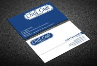 Modern Professional Hvac Business Card Design For Chillcraft with Hvac Business Card Template