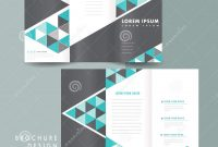 Modern Trifold Brochure Template Design Stock Vector  Illustration pertaining to 3 Fold Brochure Template Free Download