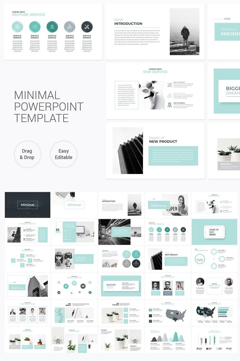 Moderne Business Plan Powerpoint Template Editierbare  Etsy Inside Etsy Business Plan Template