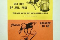 Monopoly Replacement Chance  Community Chest Cards Full Set Crafts with Get Out Of Jail Free Card Template