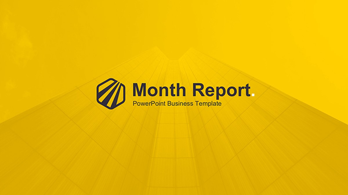 Month Report Powerpoint Template For Monthly Report Template Ppt