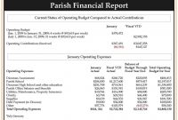 Monthly Financial Report Template Ideas New Professional within Monthly Financial Report Template