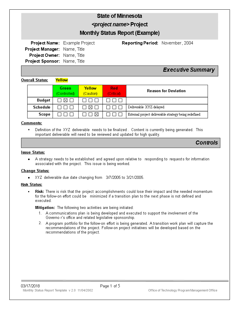Monthly Status Report  Templates At Allbusinesstemplates With Regard To Monthly Program Report Template