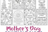 Mother's Day Coloring Cards   Pack  Crafts For Church  Mothers throughout Mothers Day Card Templates