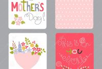 Mothers Day Set Of Cards Stock Vector Illustration Of Color intended for Small Greeting Card Template