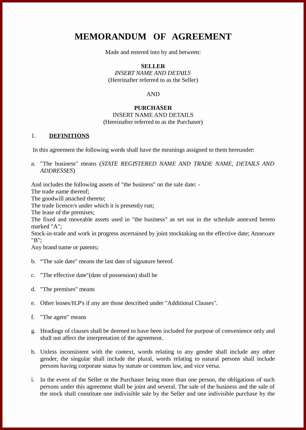 Mou Memorandum Of Understanding For Memorandum Understanding For Template For Memorandum Of Understanding In Business