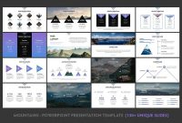 Mountains  Powerpoint Template Featuresexclusiveresolution with Powerpoint Template Resolution