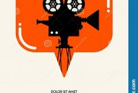 Movie And Film Festival Poster Template Design Modern Retro Vintage for Film Festival Brochure Template
