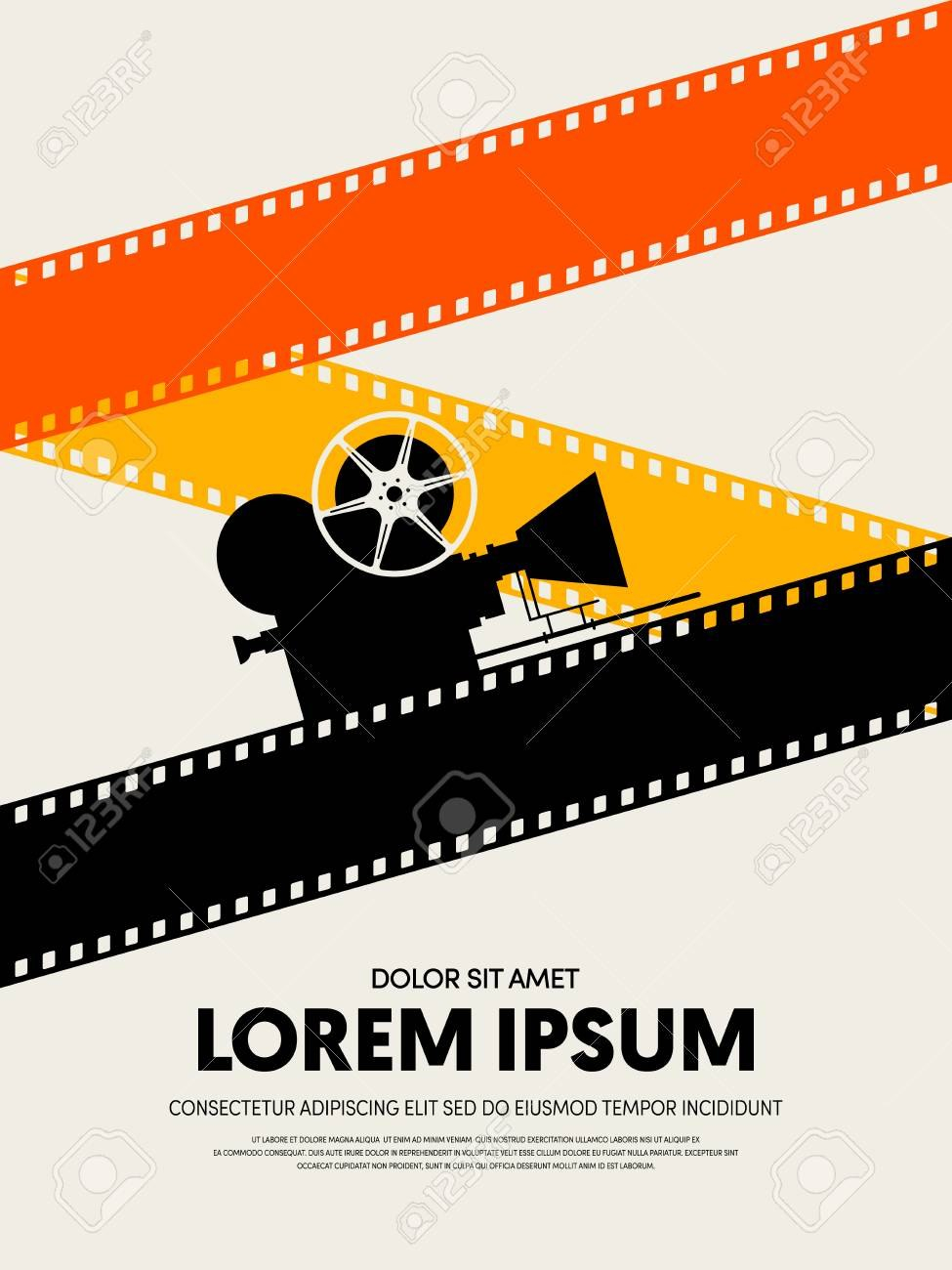 Movie And Film Festival Poster Template Design Modern Retro Vintage With Film Festival Brochure Template