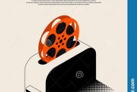 Movie And Film Festival Poster Template Design Modern Retro Vintage within Film Festival Brochure Template