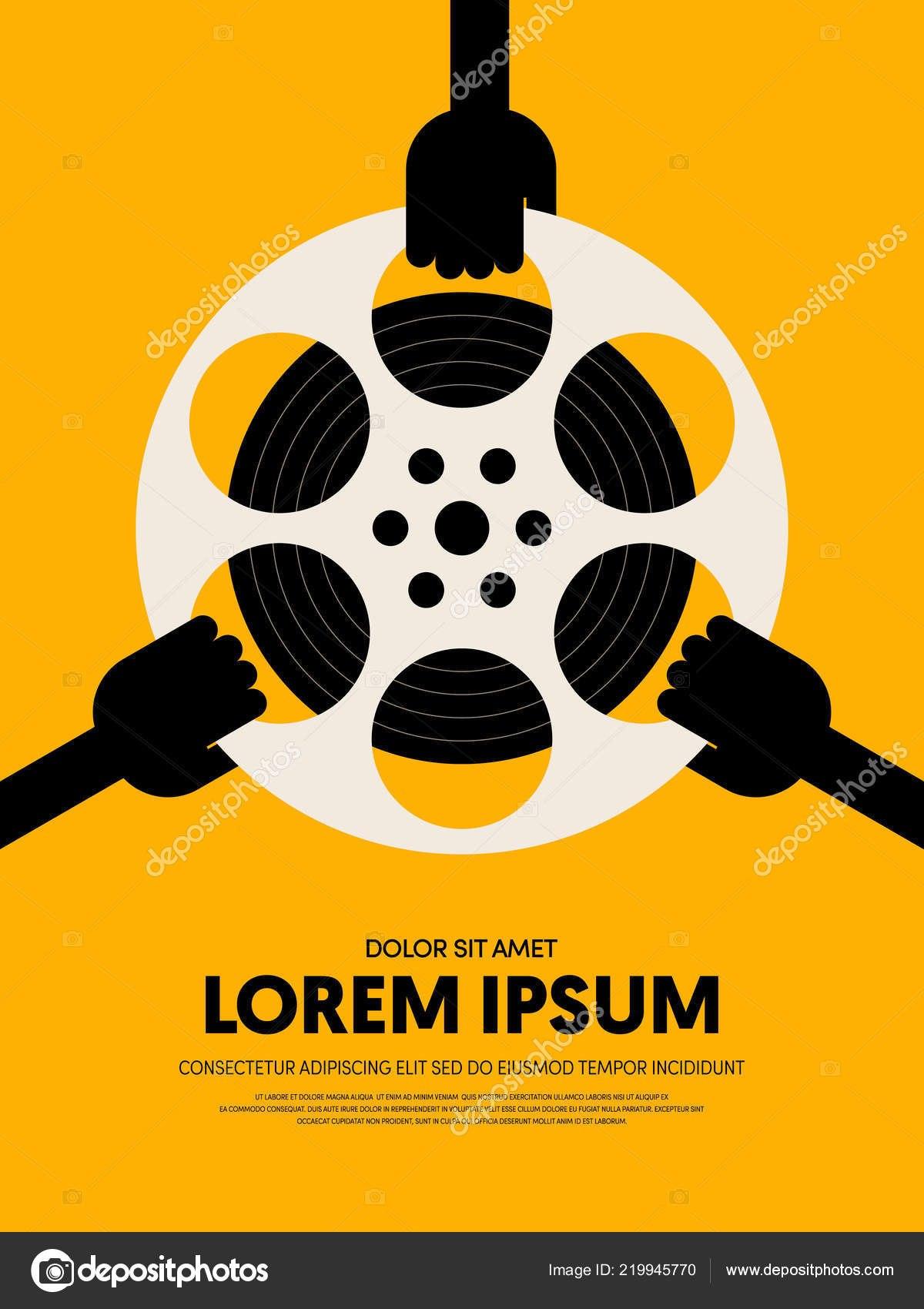 Movie Film Festival Poster Template Design Modern Retro Vintage With Regard To Film Festival Brochure Template