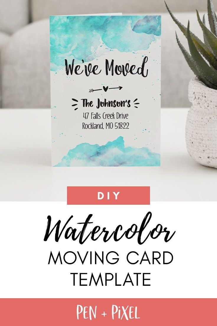 Moving Announcement New Home Moving Change Of Address Template Within Moving Home Cards Template
