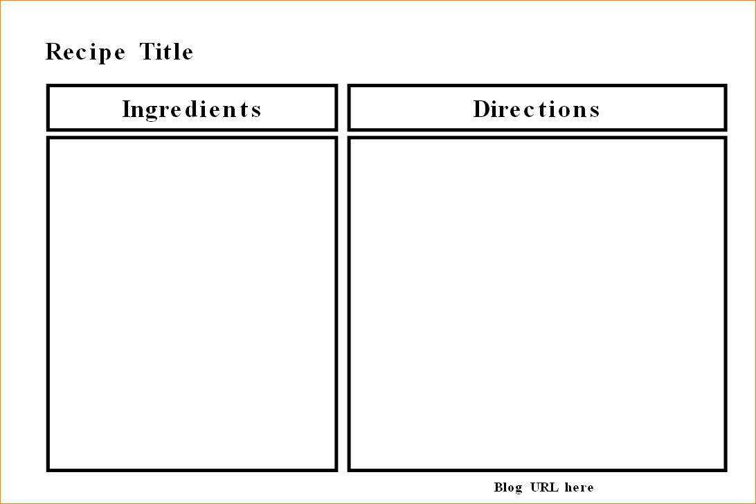 Ms Word Recipe Template  Carazestk In Microsoft Word Recipe Card Template