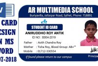 Ms Word Tutorial How To Make Easy Student Id Card Design In Ms Word with Isic Card Template