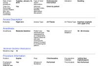 Mtuitive Surgery for Operative Report Template