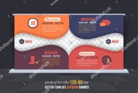 Multicolored Multipurpose Business Theme Outdoor Banner Stock Vector pertaining to Outdoor Banner Template