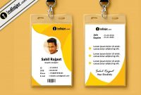 Multipurpose Corporate Office Id Card Free Psd Template  Indiater within Work Id Card Template