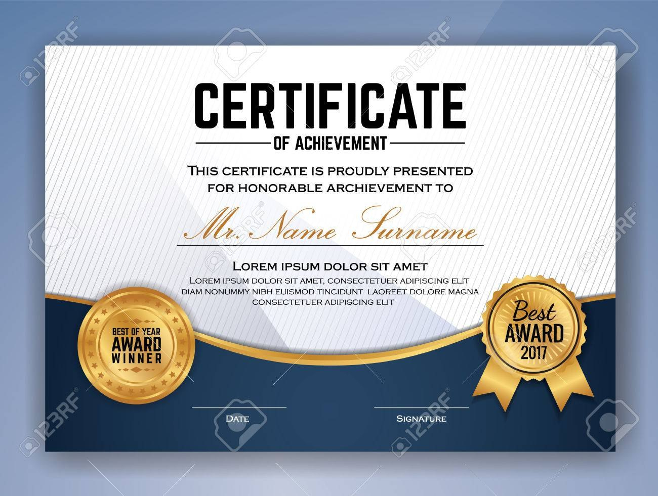 Multipurpose Professional Certificate Template Design For Print Inside Professional Award Certificate Template