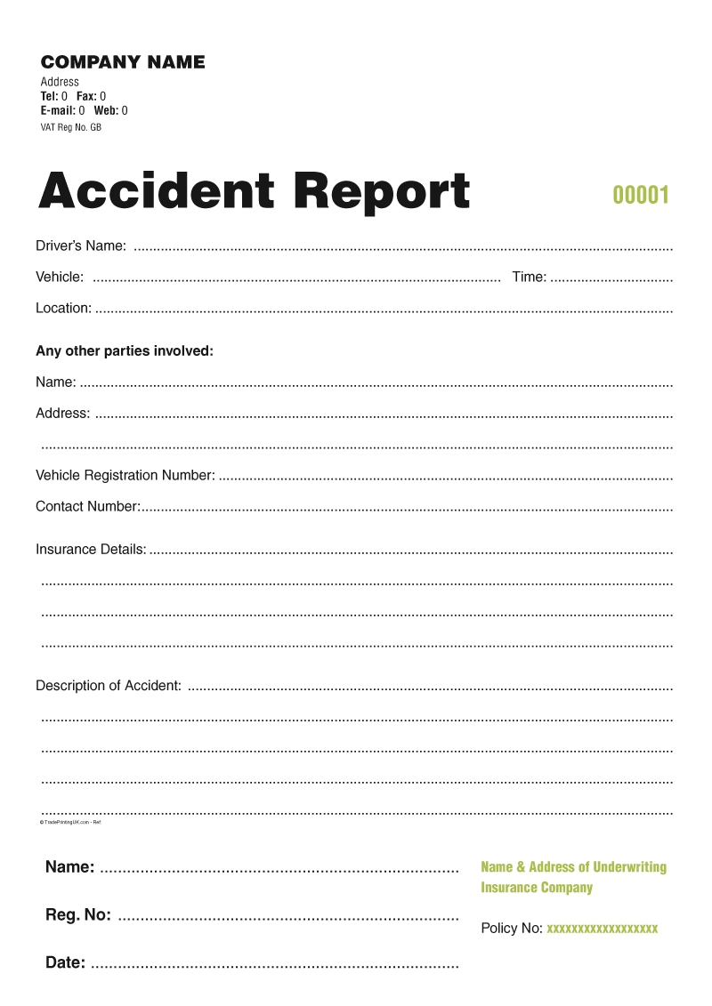 My Friends Told Me About You  Guide Accident Report Book Template Uk Pertaining To Incident Report Book Template