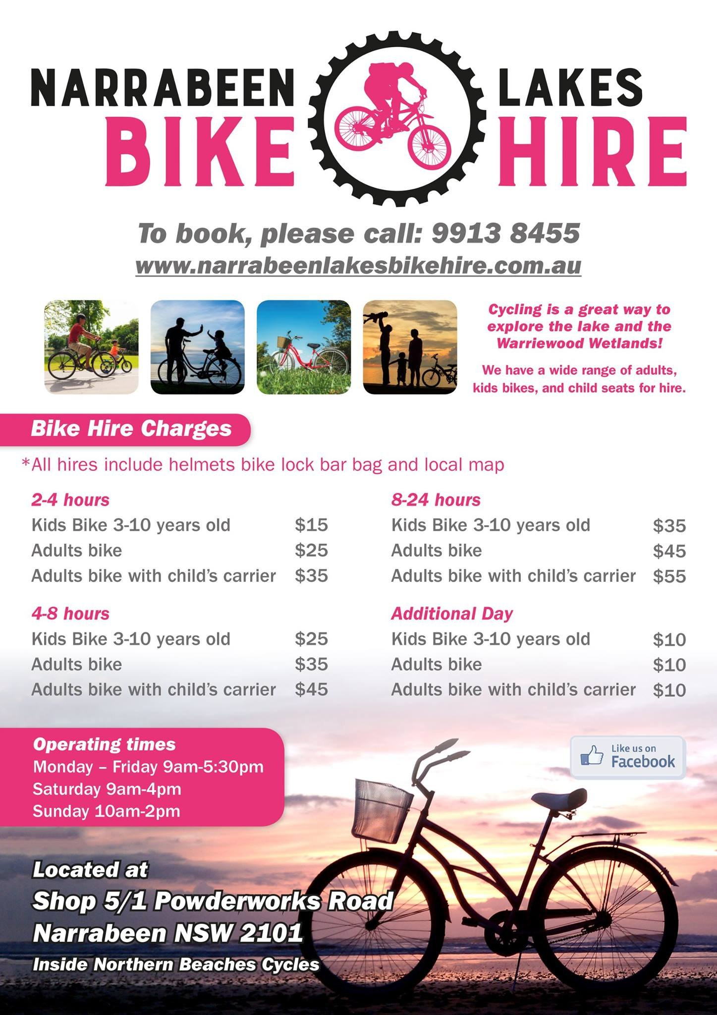 Narrabeen Lakes Bike Hire » Northern Beaches Cycles Regarding Bicycle Rental Agreement Template