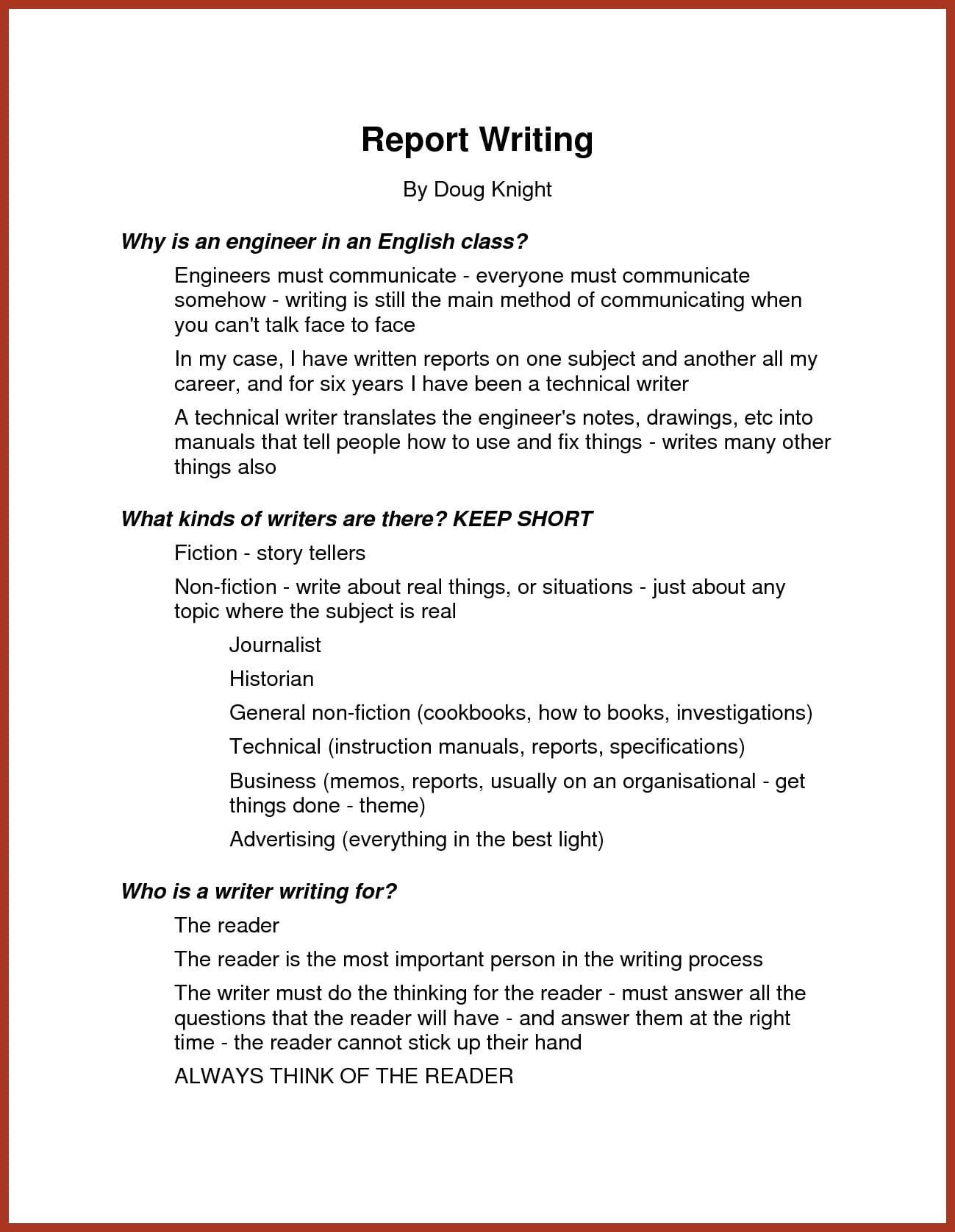 Narrative Report Examples  Pdf  Examples Regarding How To Write A Work Report Template