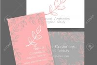 Natural Cosmetics Logo Template Design For Organic Bio Products for Bio Card Template