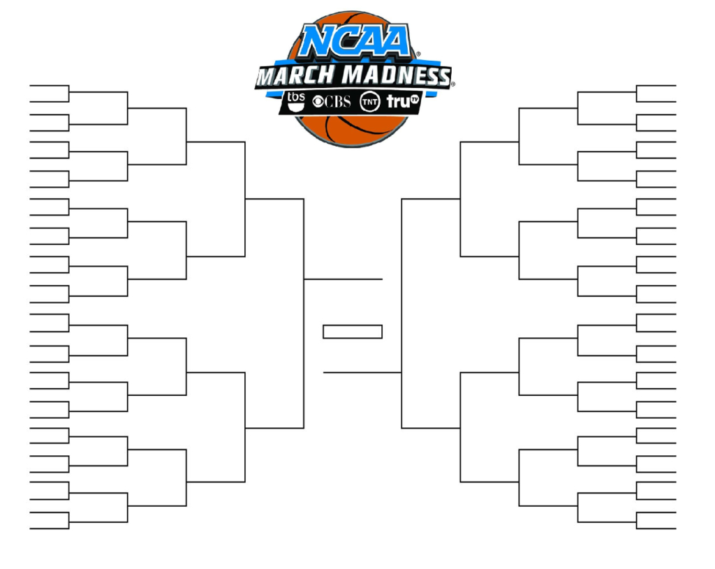 Ncaa Tournament Bracket In Pdf Printable Blank And Fillable Inside Blank Ncaa Bracket Template