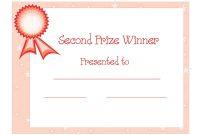 Nd Winner Certificate Template  Free Download  Dtemplates regarding Winner Certificate Template