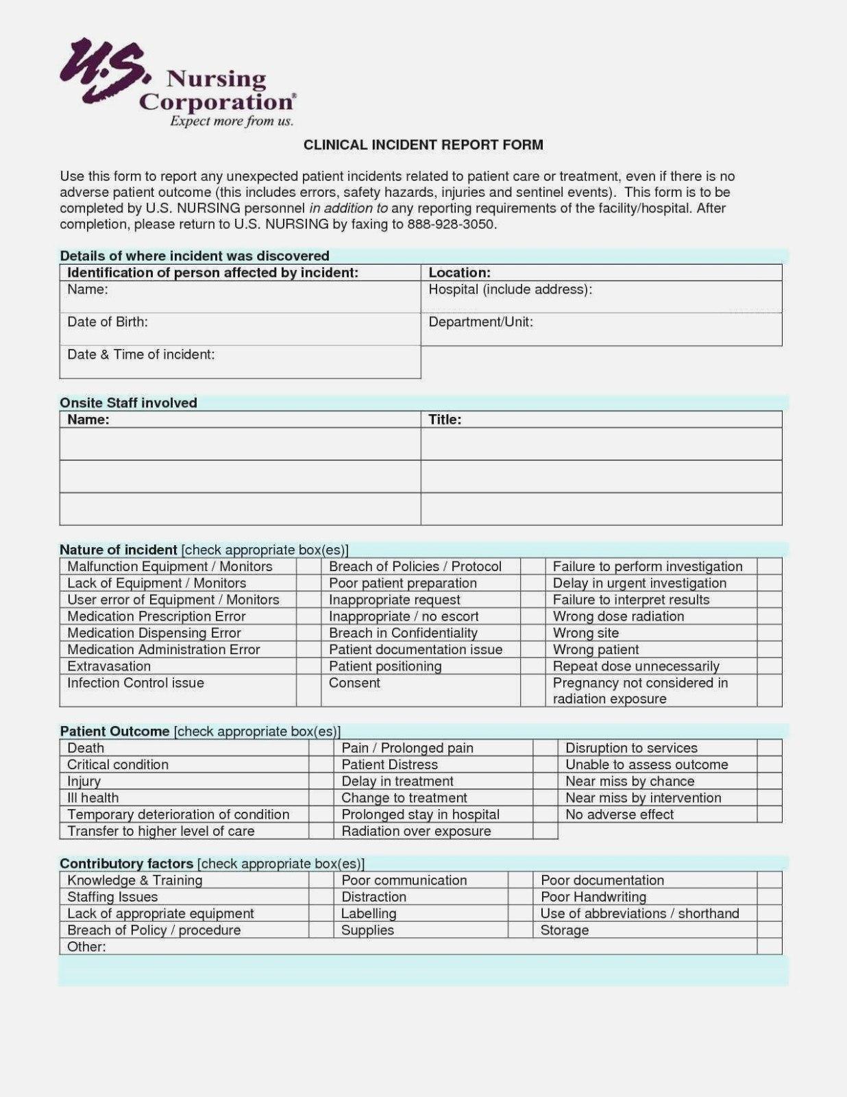 Near Miss Incident Report Template  Sansurabionetassociats Intended For Intervention Report Template