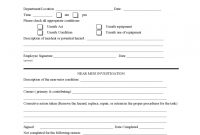 Near Miss Reporting Form   Free Templates In Pdf Word Excel Download for Near Miss Incident Report Template