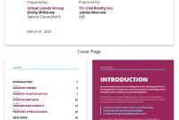 Neon Real Estate Market Industry Report Template Template  Venngage in Real Estate Report Template