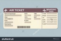 New Airline Ticket Invitation Template Free  Best Of Template within Plane Ticket Template Word