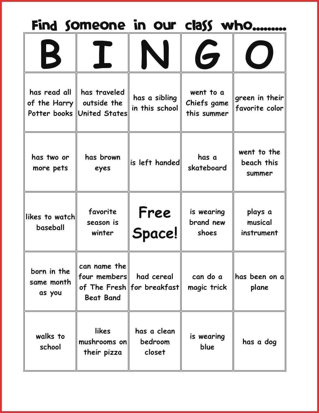 New Bingo Card Template  Leave Latter Intended For Ice Breaker Bingo Card Template