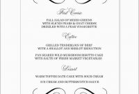 New Fancy Menu Template Free  Best Of Template intended for Menu Template Free Printable