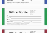 New Free Printable Massage Gift Certificate Templates  Best Of Template inside Massage Gift Certificate Template Free Printable