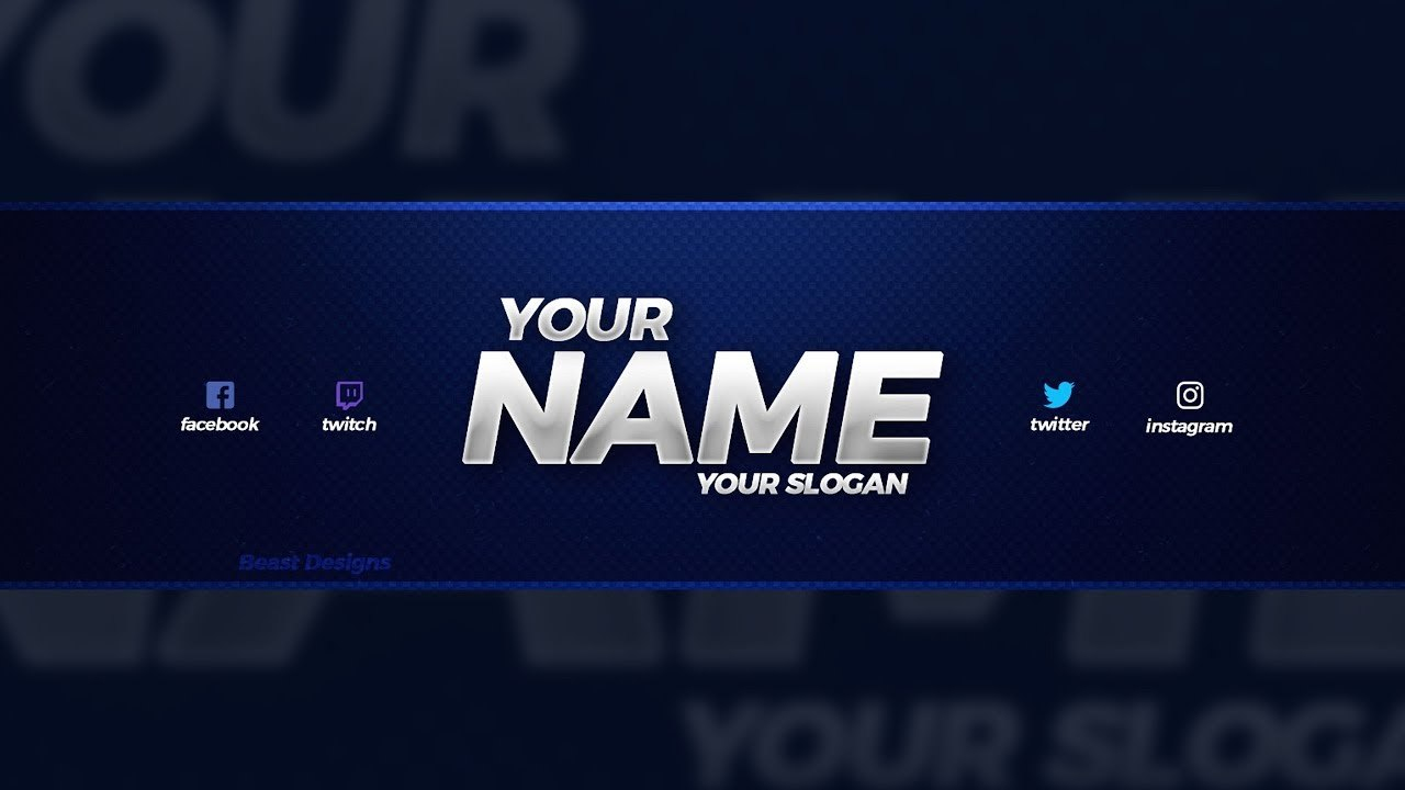 New Free  Youtube Banner Template  Free Youtube Banner With Youtube Banners Template